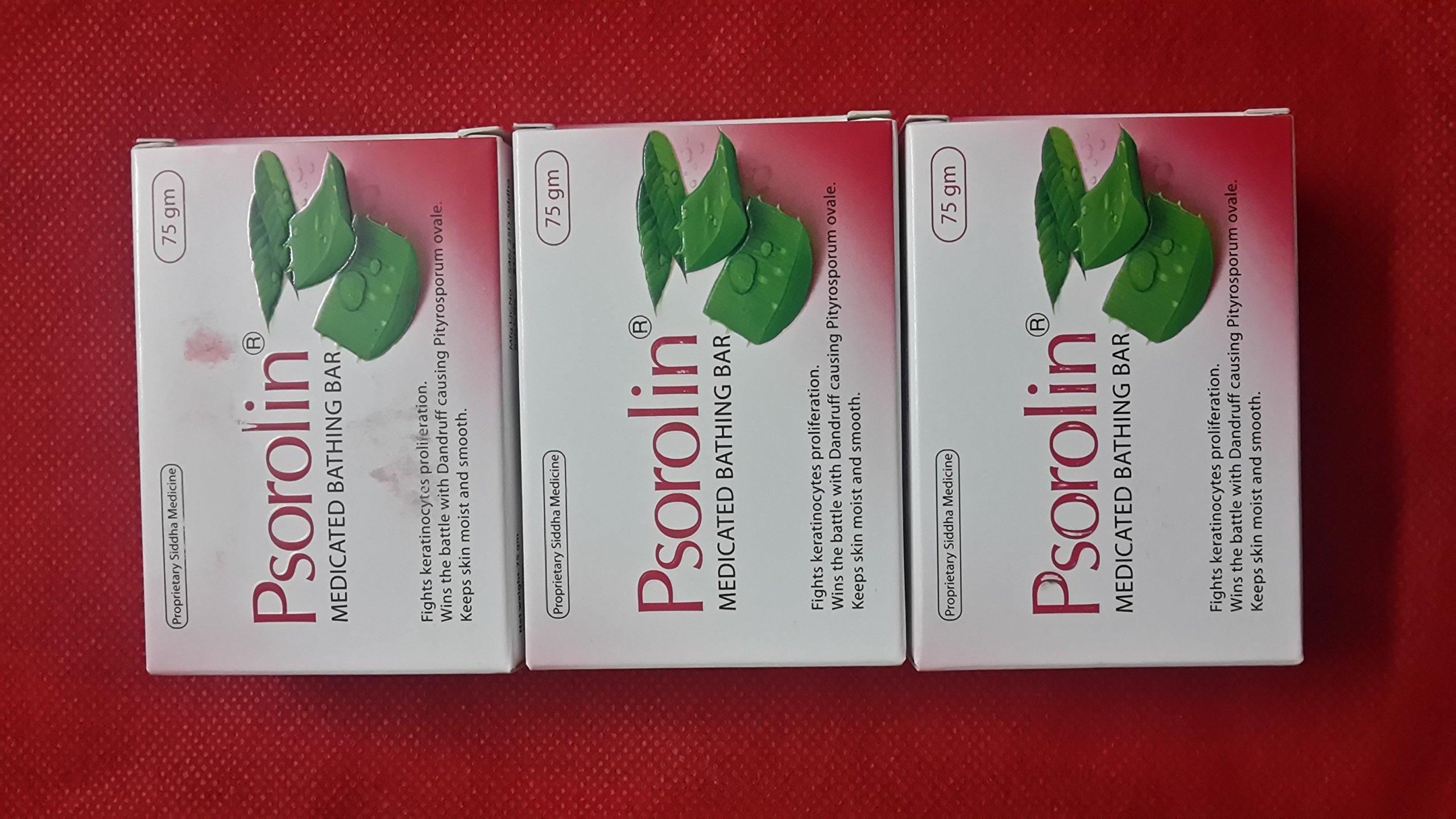 PSOROLIN Medicated Soap - 3 Pieces | for Psoriasis Vitiligo Dermatitis Eczema