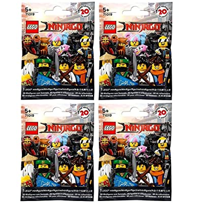 LEGO The Ninjago Movie Minifigures - Random Pack of 4 (71019): Toys & Games