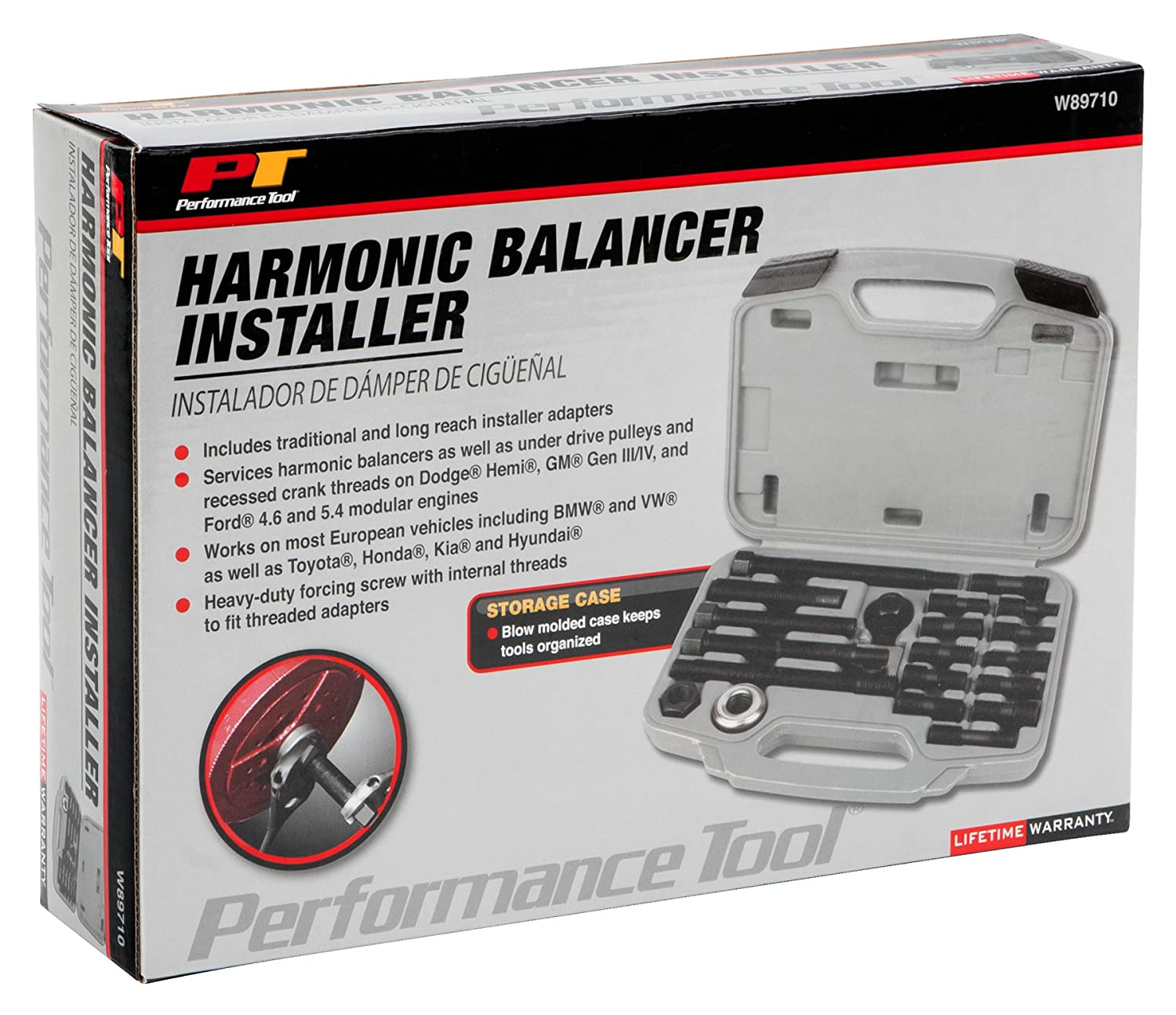 Performance Tool W89711 Harmonic Balancer Puller and Installer Tool Set With Case Wilmar Corporation