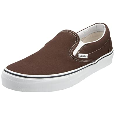 c676ab94bcb Vans Unisex Classic Slip-On Espresso Skate Shoe 3.5 Men US   5 Women US