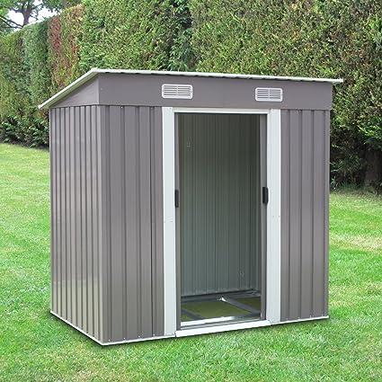 Peach Tree 6u0027 x 4u0027 Outdoor Backyard Metal Garden Utility Storage Shed Heavy Duty & Amazon.com : Peach Tree 6u0027 x 4u0027 Outdoor Backyard Metal Garden ...