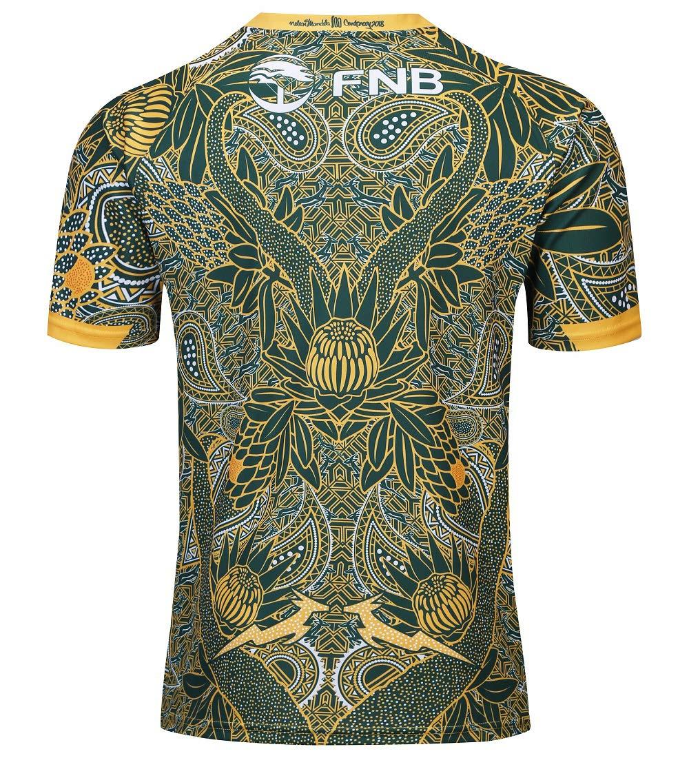 CRBsports /Équipe Afrique du Sud Springboks Maillot De Rugby 7s Nouveau Tiss/é Brod/é Swag Sportswear