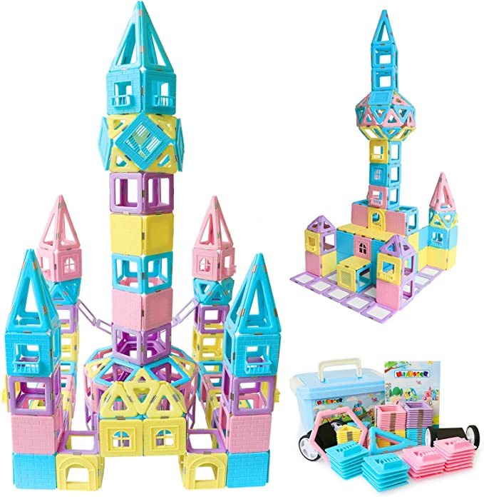 22PCS Magnetic Construction Building Toys Educational Blocks Educational Cards
