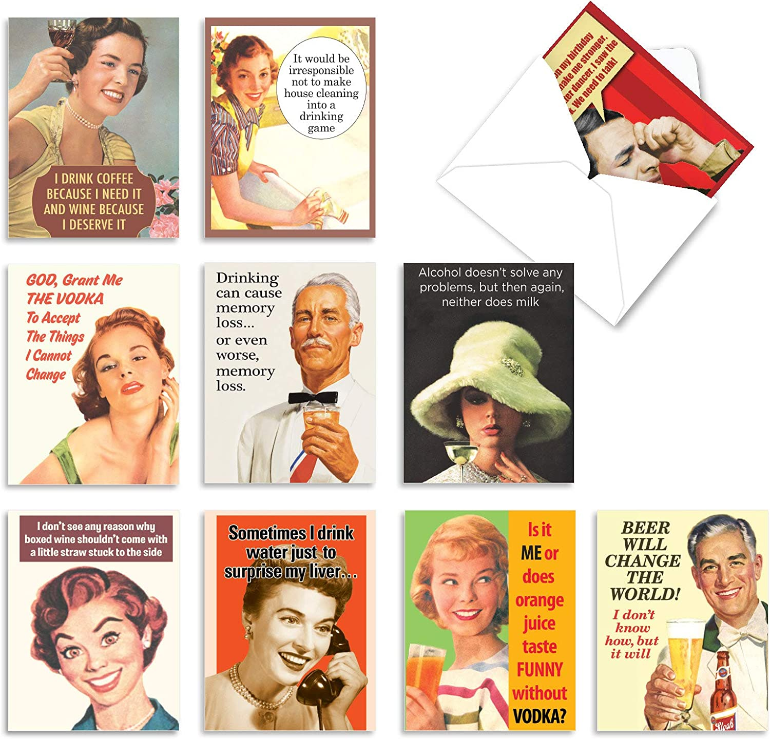 funny friendship cards retro cards funny congratulations cards Funny blank cards all occasions cards, funny retro cards