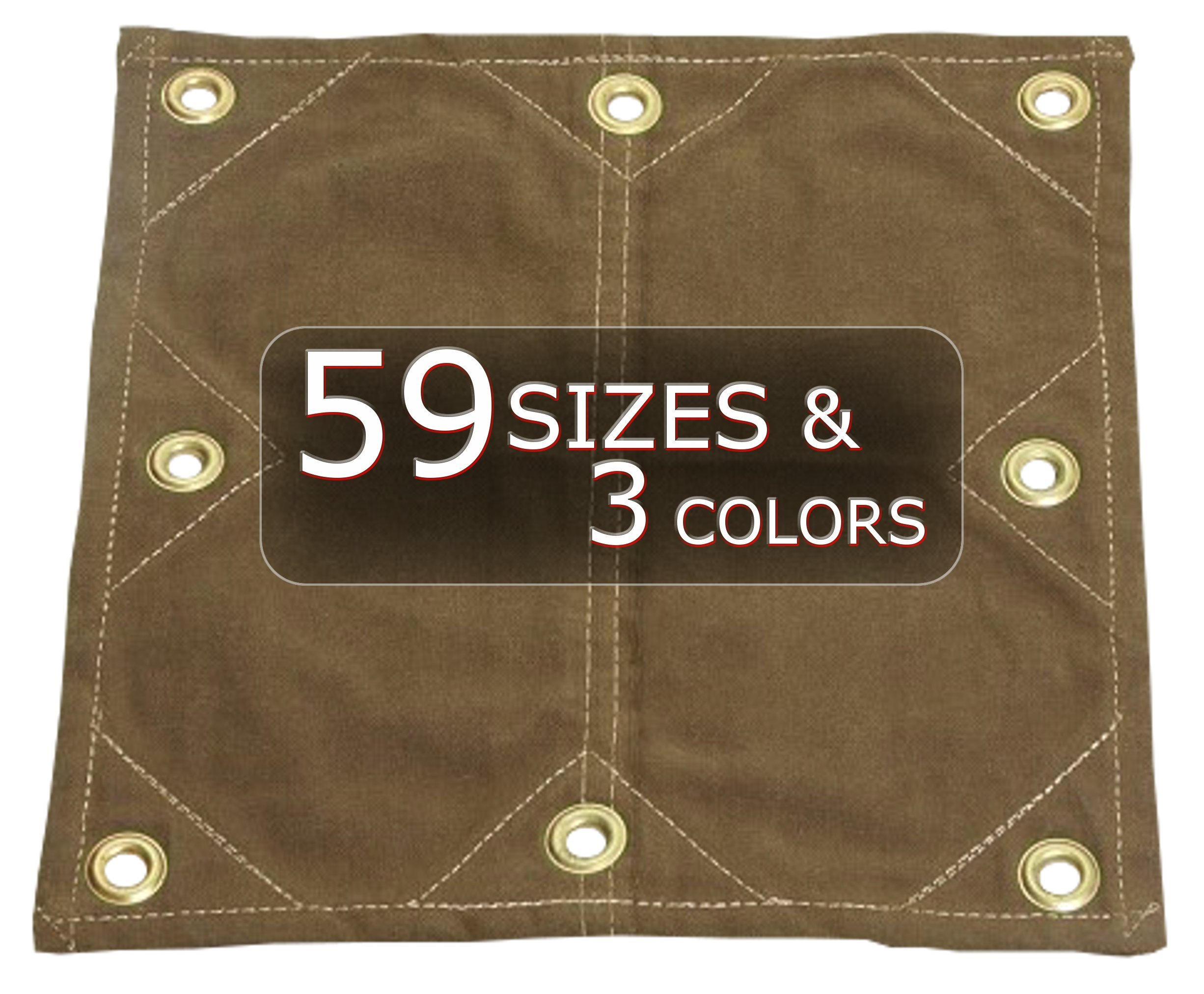 8x12 18oz Heavy Duty Canvas Tarp with Reinforced Grommets Every 12'' by Tarp Nation