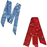 MiraCool Cooling Bandanas. Pack of 4 Summer Heat Cooling Neck or Head Bandanas - Reusable