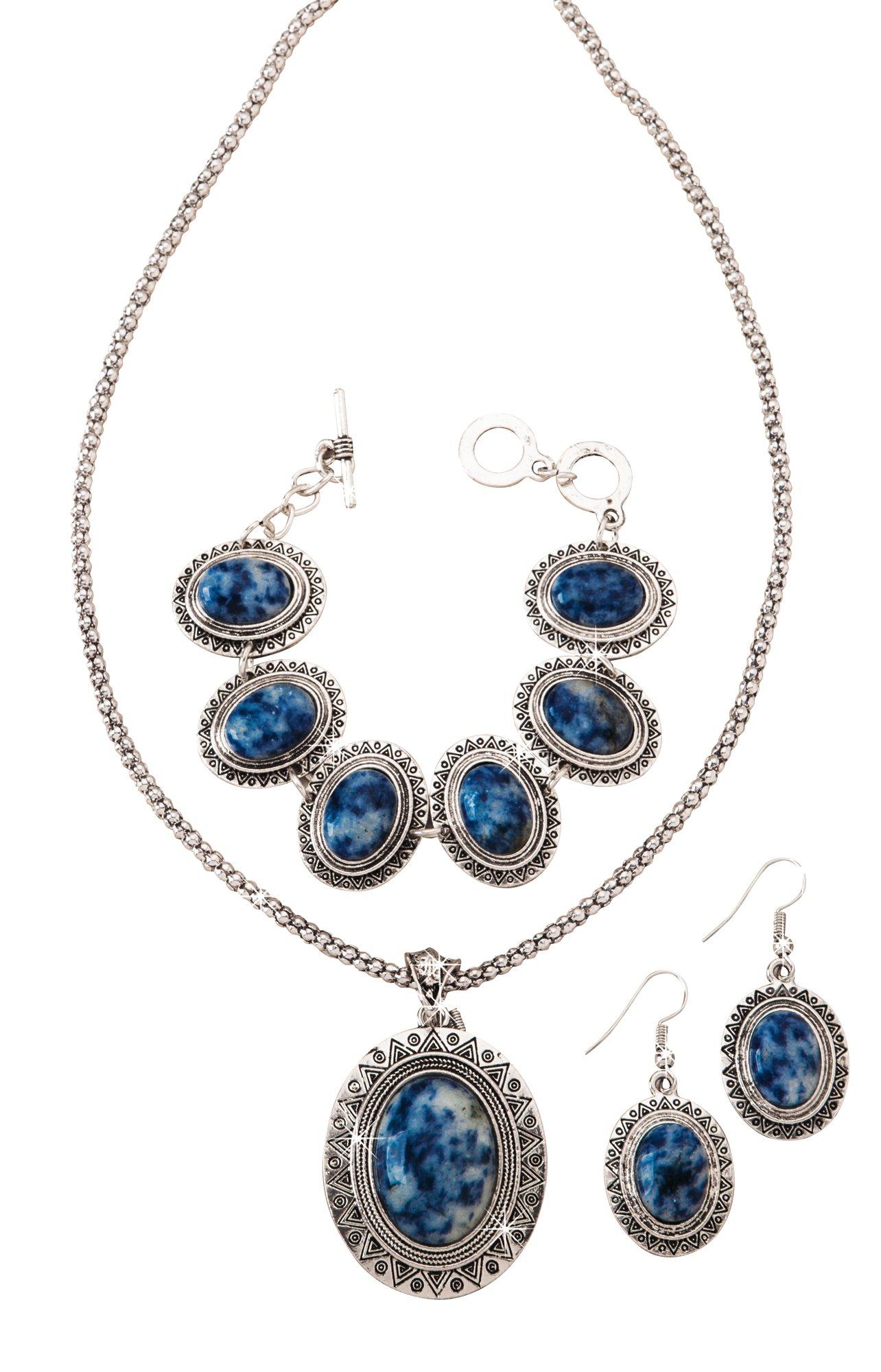 The Paragon Sodalite Southwestern Jewelry Set - 3 pc. Set