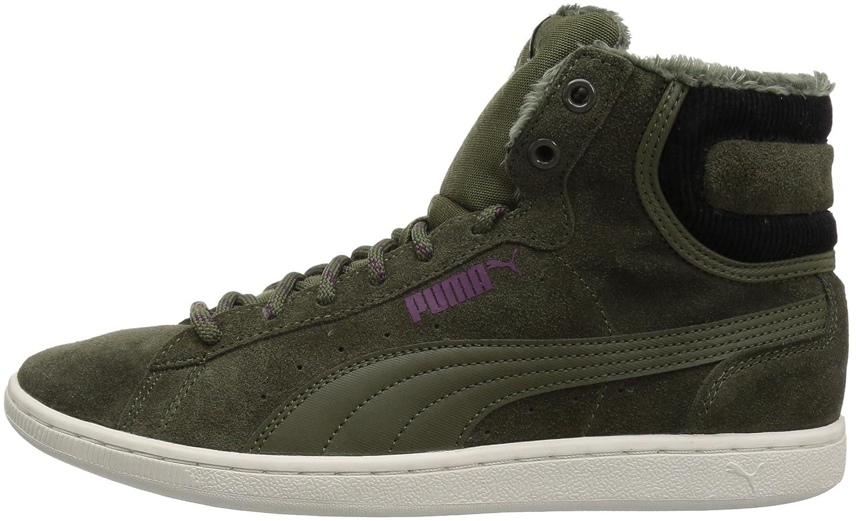 PUMA Women's Vikky Mid Corduroy Sneaker B06XWLZ517 7 M US|Olive Night-olive Night