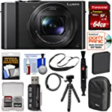 Panasonic Lumix DMC-LX10 4K Wi-Fi Digital Camera with 64GB Card + Battery + Case + Flex Tripod + Sling Strap + Kit