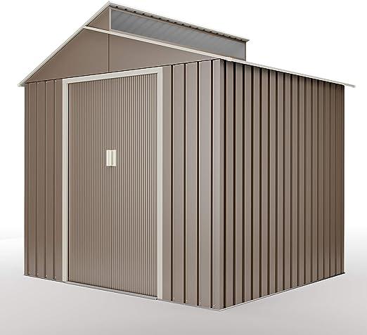 Hoggar by Okoru Cobertizo Premium Metal para Almacenamiento 4, 25m2-220x193x214cm. Casta Jardin terraza: Amazon.es: Jardín