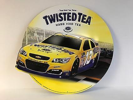 Amazon.com: Twisted Tea Hard Iced Tea - Nascar Racing #13 - Metal ...