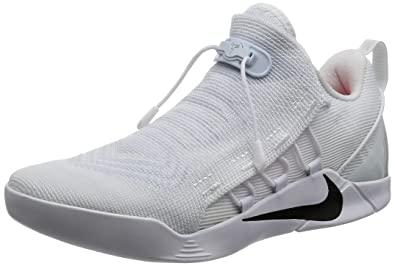 cdb0fb53b380 Nike Mens Kobe A.D. NXT Basketball Shoes White Black 882049-100 Size ...