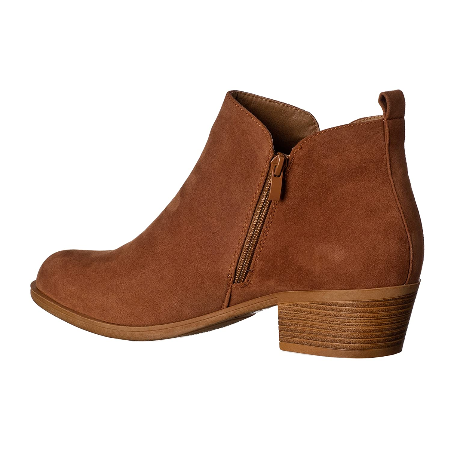 f6cacdbd13 Amazon.com   Riverberry Women's Luck Medium Height, Chunky Heel Bootie Boots    Ankle & Bootie