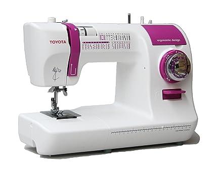 Toyota ECO34A - Máquina de coser con 34 programas, 85 W, color blanco y