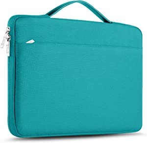 "ZINZ Laptop Sleeve 15 15.6 16 Inch Case Briefcase, Compatible MacBook Pro 16 15.4 inch, Surface Book 2/1 15"" Super Slim Spill-Resistant Handbag for Most Popular 15""-16"" Notebooks, Linen Blue"