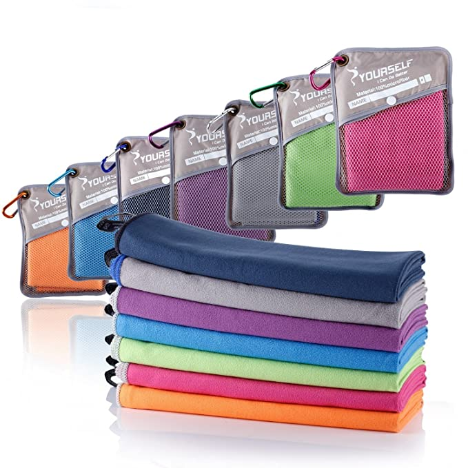 Amazon.com: SYOURSELF Microfiber Sports & Travel Towel-72 ...
