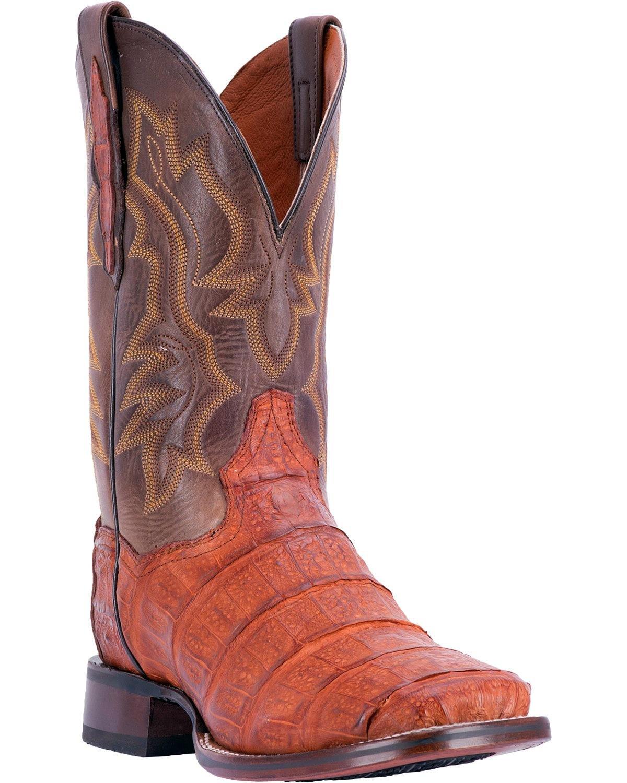 Dan Post Men's Bishop Caiman Tail Cowboy Certified Boot Square Toe Cognac 10.5 D