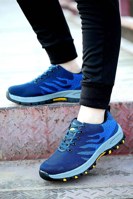 Axcer Hombre Mujer Zapatillas de Seguridad con Puntera de Acero Antideslizante Transpirable S3 Zapatos de Trabajo Comodas Calzado de Trabajo Deportivos ...