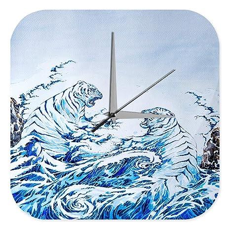Reloj De Pared Decoración Gato Ola tigre Plexiglas Impreso ...