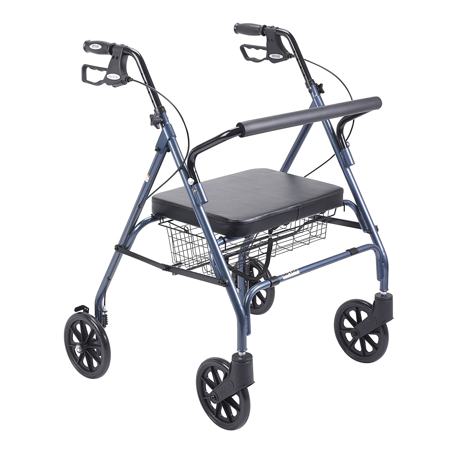 Amazon Drive Medical Heavy Duty Bariatric Walker Rollator with