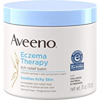 Aveeno Eczema Therapy Itch Relief Balm with Colloidal Oatmeal & Ceramide for Dry Itchy Skin, Non-Greasy, Steroid…