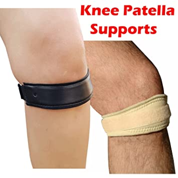 1d50534938 Medipaq® Twin Pack - 1x Knee Patella Support strap + 1x Magnetic Knee Brace:  Amazon.co.uk: Health & Personal Care