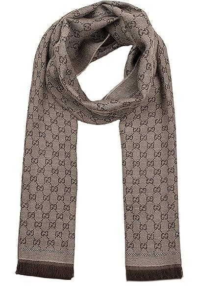 84cf50be48 Gucci Sciarpa Donna 4111153G2009764 Lana Marrone: Amazon.it: Abbigliamento