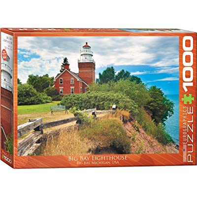 EuroGraphics Big Bay Lighthouse, Michigan Puzzle (1000-Piece): Toys & Games