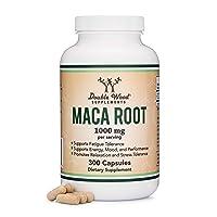 Maca Root Capsules (Black Maca Powder - 1,000mg per Serving) 300 Count for Men and...