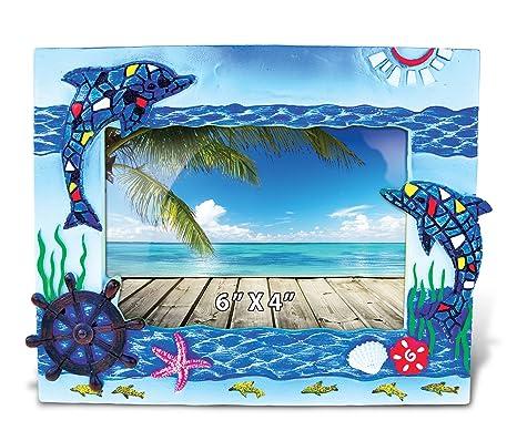 Amazon.com - Puzzled Dolphins Mosaic Photo Frame 4\
