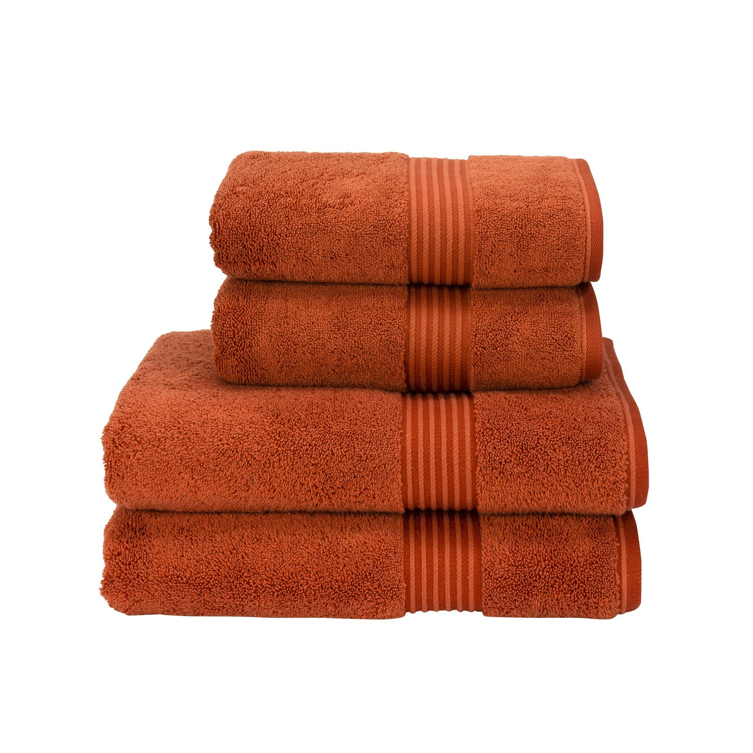 Christy Supreme Hygro Bathroom Towels 650 gsm 100% Cotton Exceptionally absorbent (Face Cloth 33cm x 33cm, Paprika (Orange))