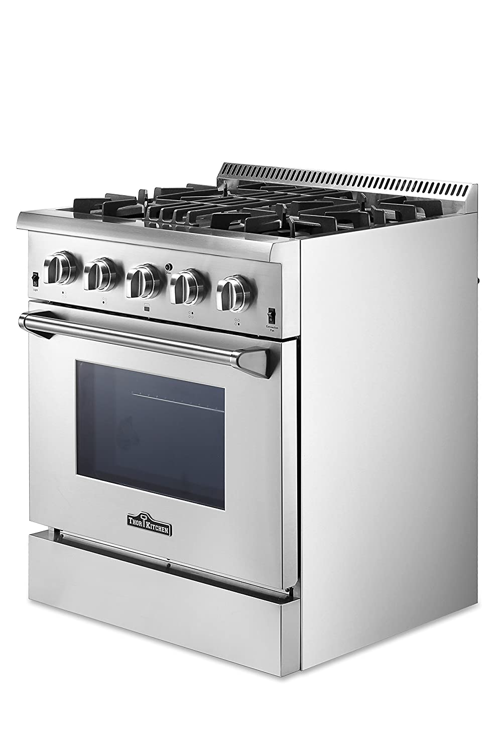 amazoncom thorkitchen hrd3088u 30 freestanding professional style dual fuel range with 42 cu ft oven 4 burners convection fan stainless steel - Thor Kitchen
