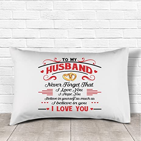 Amazon husband gifts to my husband never forget that i love husband gifts to my husband never forget that i love you pillow best wedding solutioingenieria Choice Image