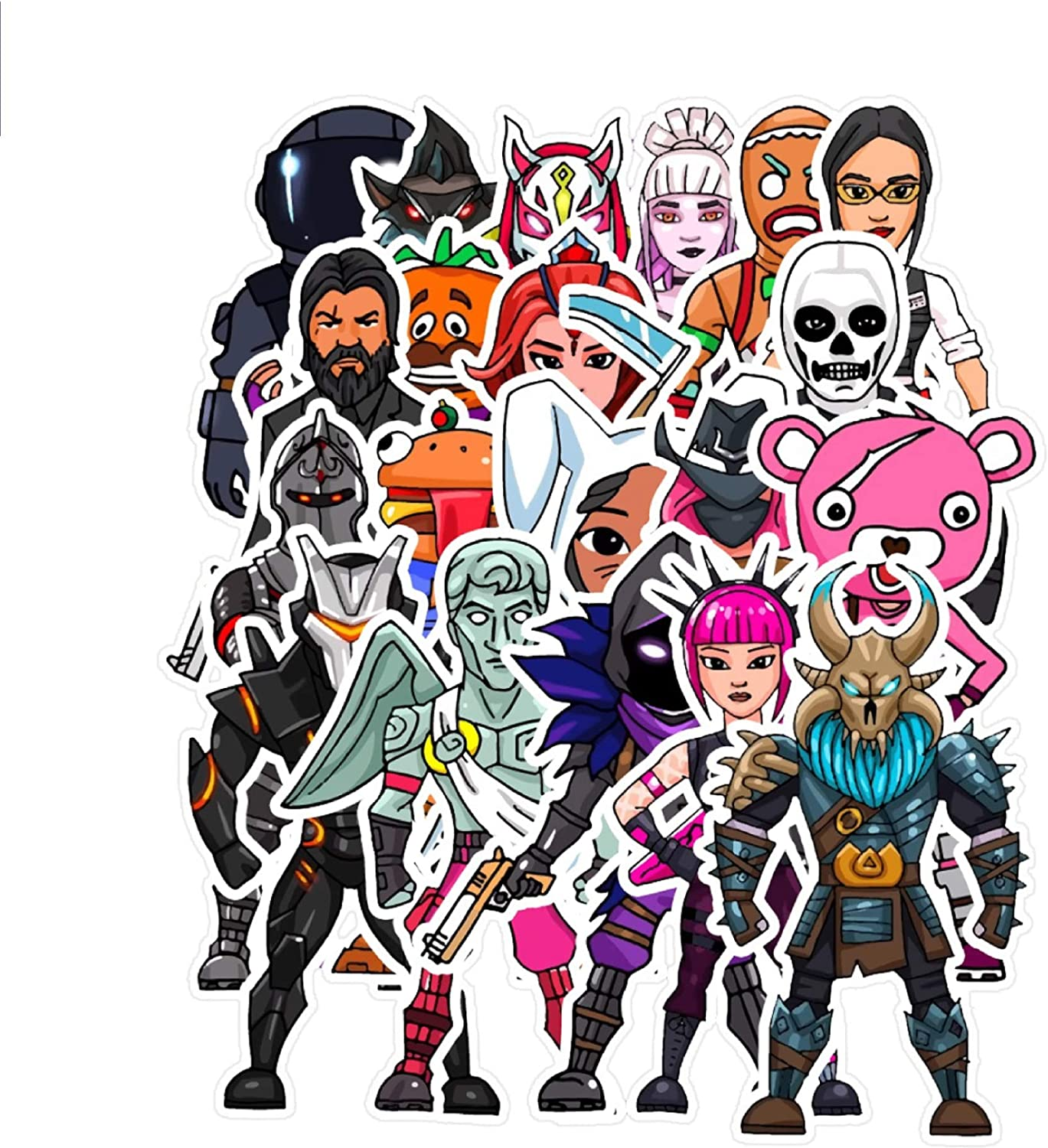 Popular Skins Sticker Set (20 PCS), Video Game Party Supplies, Waterproof Stickers Laptop, Trolley, Car