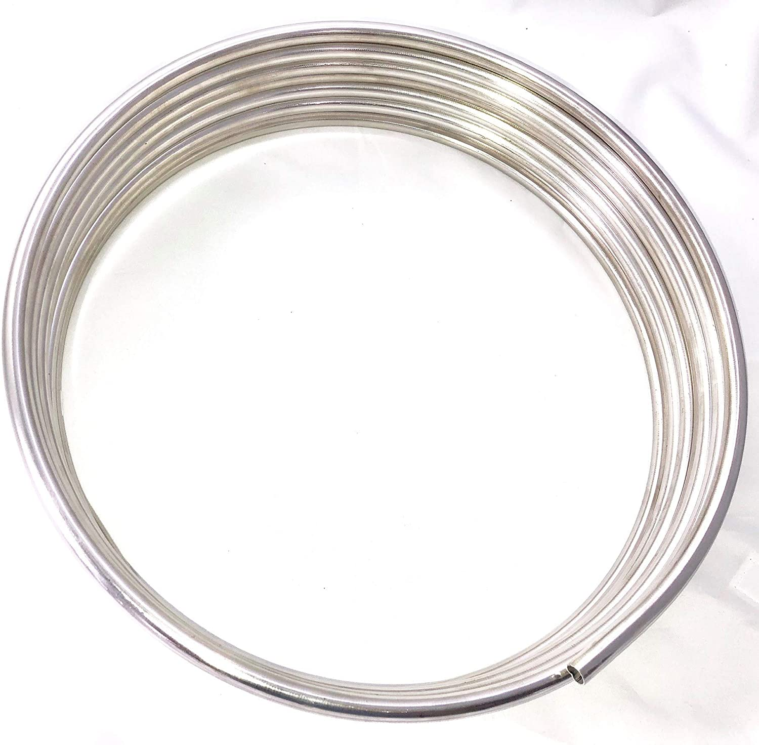 "16 Ft of 3/8"" Stainless Steel Fuel Line Tubing Coil, Grade 304, Made in USA"