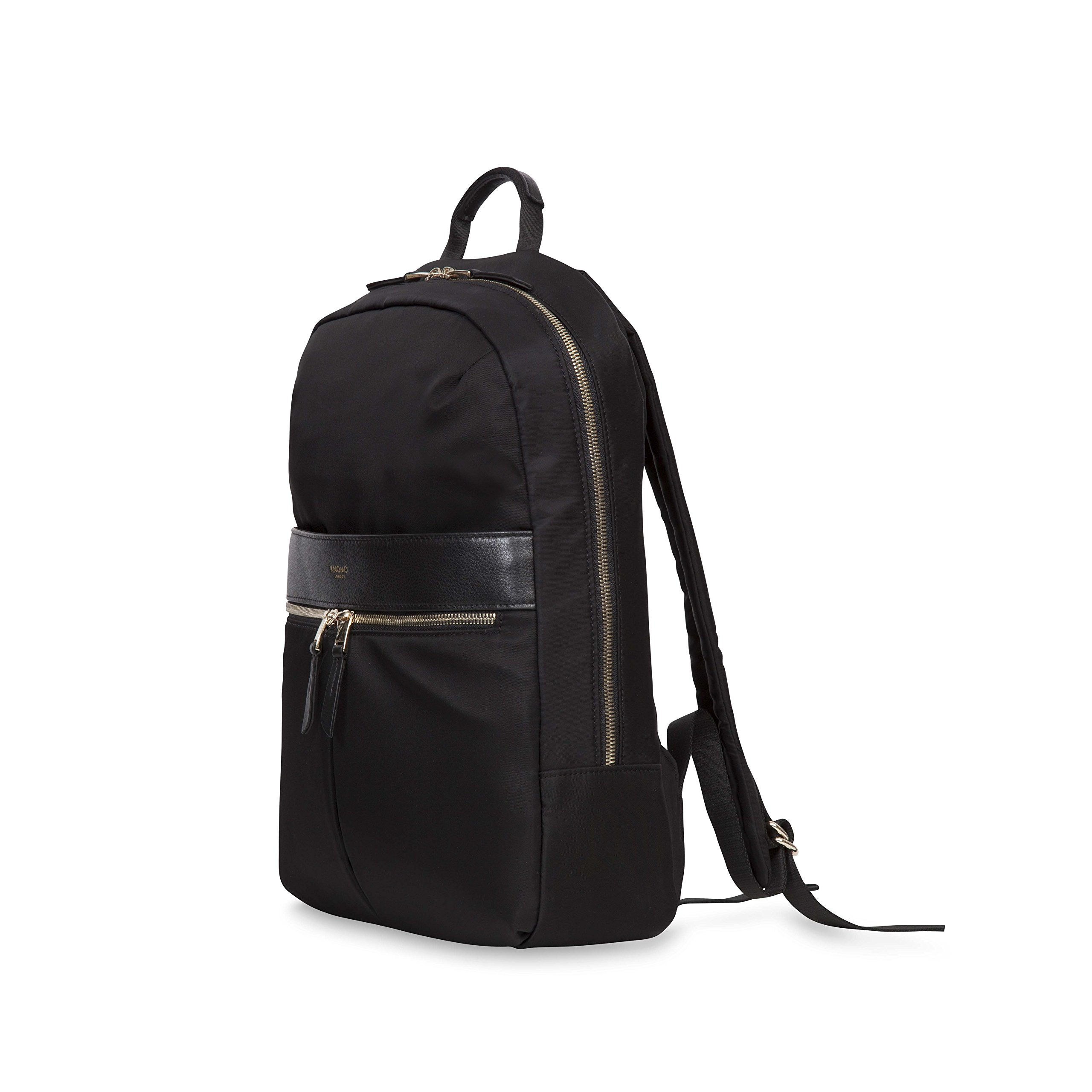 Knomo Luggage Women's Mayfair Nylon Beauchamp Backpack 14'', Black, One Size by Knomo