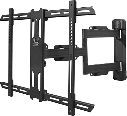Kanto PS350 Full Motion Articulating TV Wall Mount for 37-inch to 60-inch TVs Low Profile 22 Extension VESA Compatible up to 600×400 Black