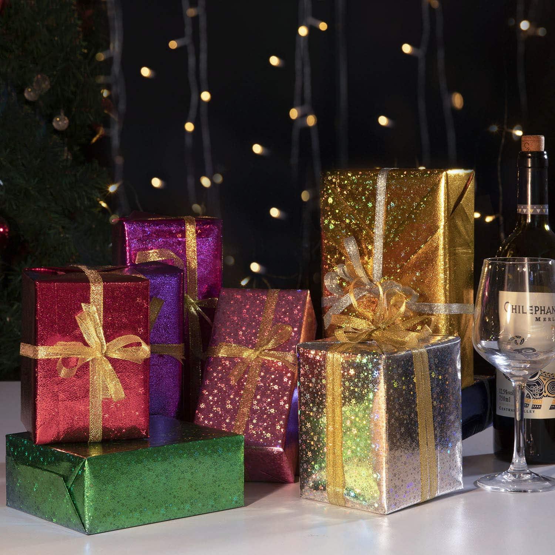 Baby Shower Jolintek Color Arco/íris de Papel Regalo Papel de Regalo San Valent/ín 74x52cm 8 Hojas Papel para Envolver Regalos y 2 Cinta de Organza Papel Embalar Colorido para Cumplea/ños Navidad