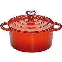 Küchenprofi Mini-Cocotte-Kp401001410 ollas, Hierro Fundido, Rojo, 10 cm