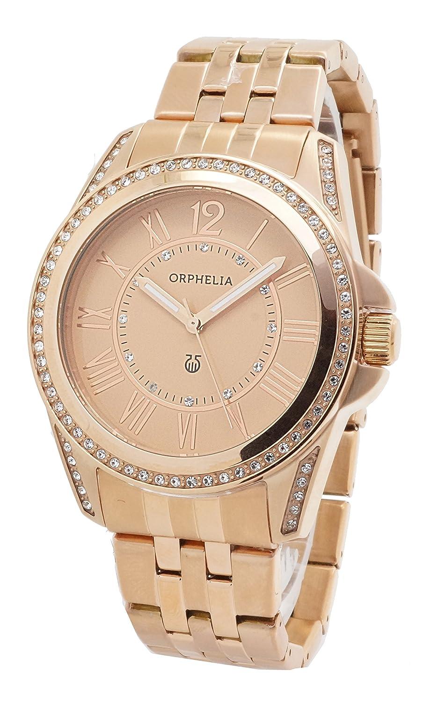 ORPHELIA Damen-Armbanduhr Analog Quarz Edelstahl 155-4703-77