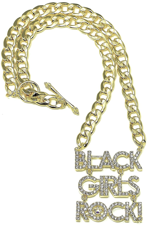 GWOOD Black Girls Rock Necklace Large Size Gold Color