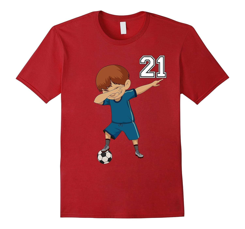 21 Soccer Shirt Boys Funny Dabbing Dab Dance Soccer Ball-ANZ