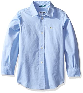 f47e11c47 Amazon.com  Lacoste Boys  Long Sleeve Classic Oxford Woven Shirt ...