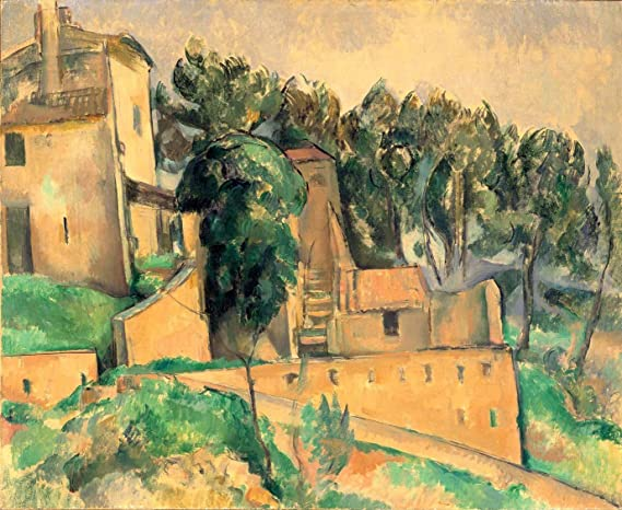 Amazon.com: La Maison De Bellevue Paul Cezanne 1890 32X26 Inch(Ultra Giclee  On Canvas, Stretched, Ready To Hang, Made In Canada): Posters U0026 Prints