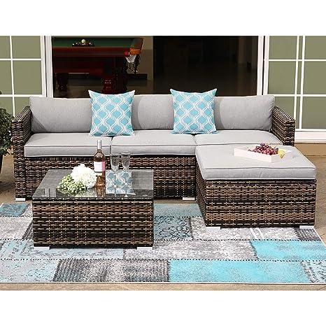 Amazon.com: COSIEST 5 piezas muebles de exterior todo tipo ...