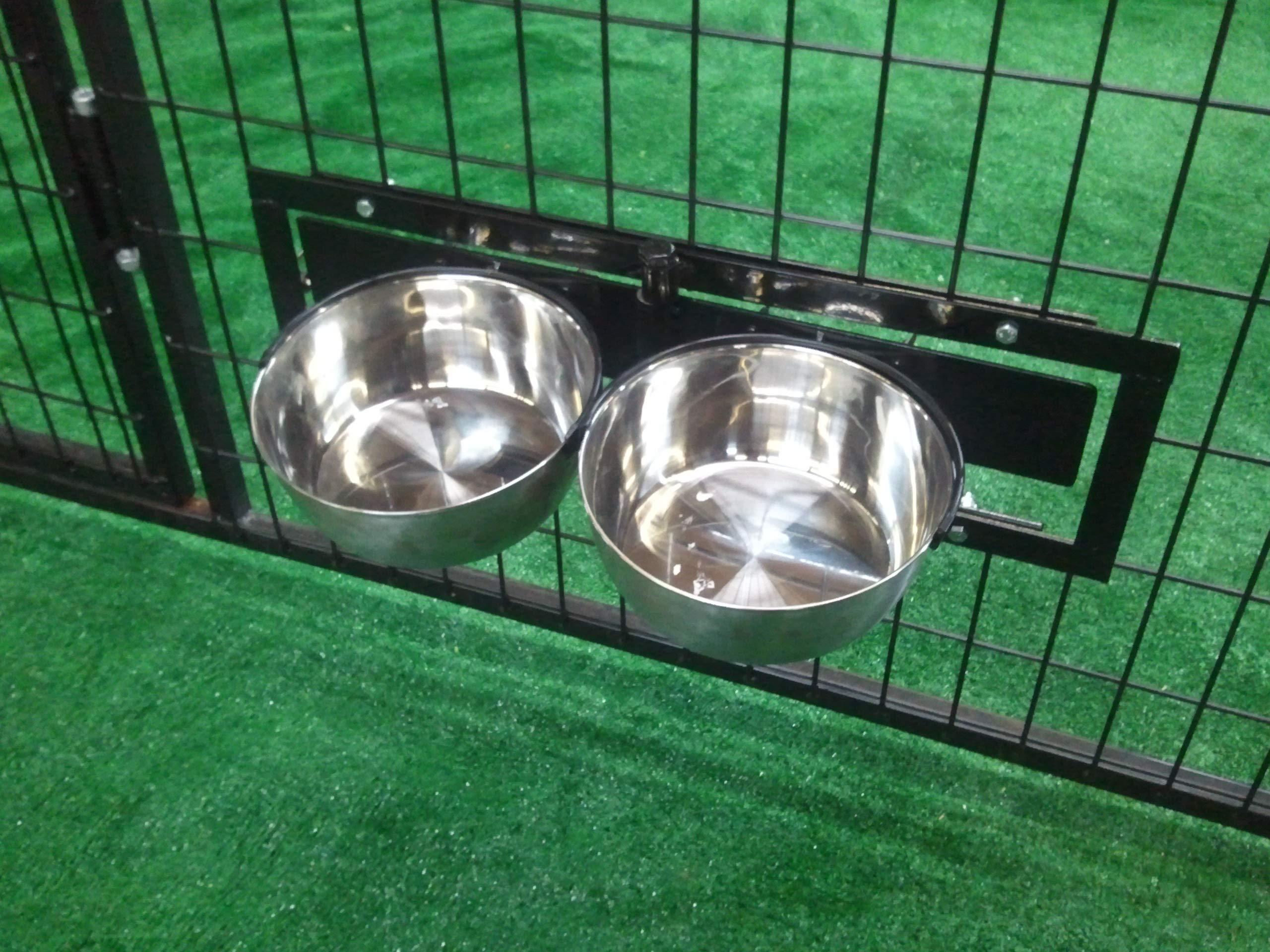 Cove Products Swivel Bowl Bracket & Steel Bowls