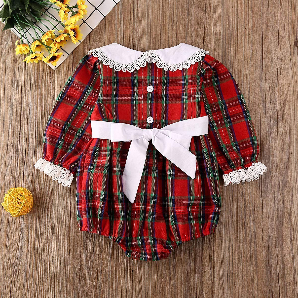 Eghunooye Big//Little Sister Matching Set Baby Girl Romper//Dress Xmas Outfits