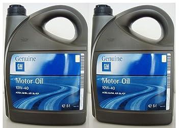 General Motor - Aceite semisintético GM 10W40 ACEA A3/B4 API SL/CF bidón de 5 L: Amazon.es: Coche y moto