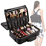 Amazon Price History for:[Gift Included] VASKER 3 Layers Waterproof Makeup Bag Travel Cosmetic Case Brush Holder with Adjustable Divider VA-06