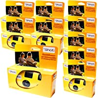 TopShot Lot de 10 appareils photo jetables pour 27 photos avec flash